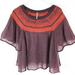 Free People lightweight wool blend top size M